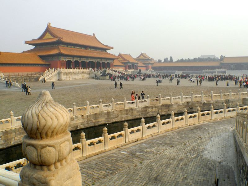 Lots of people, but the Forbidden City is so large, it's easy to spread out.