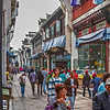 The pedestrian street in old town of Tunxi, China