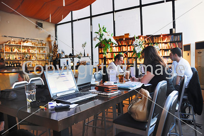 Beijing, CHINA- Interior Design, Dining Room and Internet Cafe, Restaurant, Cafe, Library, Lounge, The Bookworm, Sanlitun Area, Directphoto