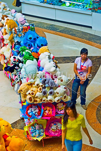 Beijing, CHINA- Shopping, Interior, 77th Street Mall Shopping Center, Female Stuffed Toys Vendor from Above, Xidan Commercial Street Directphoto
