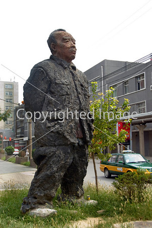 Beijing, CHINA-  Contemporary Sculpture Outside Art Gallery in Art District 798 in Chaoyang Disrtict, Credit Artist: Zhang Jianhua   http://www.worldofstock.com/closeups/TAP1097.php Directphoto