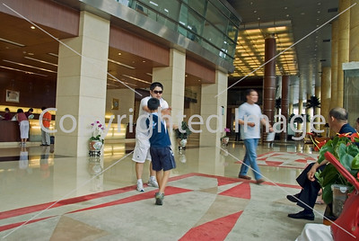 Beijing, CHINA- Tourist Hotels, Interior Lobby of Beijing Hotel, Directphoto