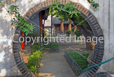 Beijing, CHINA-  Round Garden Doorway at Ancient Observatory Monument, to Chinese Garden Directphoto