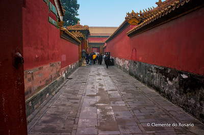 A walkway in the Forbidden City complex