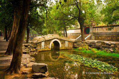 Scenic bridge along the The Long Corridor in the Summer Palace grounds, Beijing