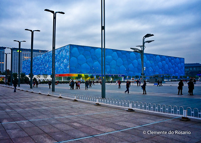 Beijing National Aquatic Center, also  known as Water Cube