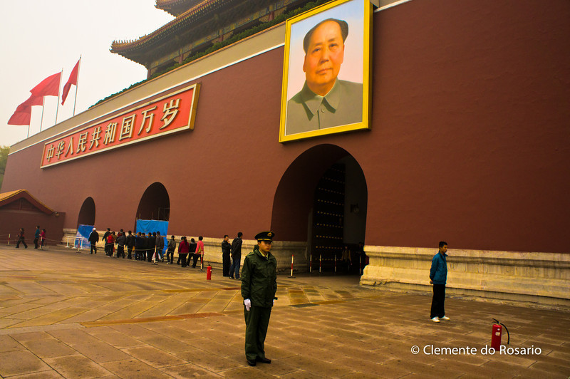Portrait of Mao at the entrance gate to Forbidden City