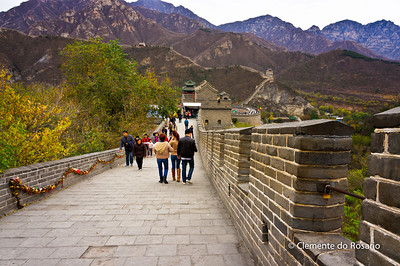 Great Wall at Juyongguan Pass, on hour's drive from Beijing.