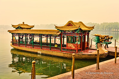 Tourist Cruise boat on Kunming lake, Summer Palace, Beijing