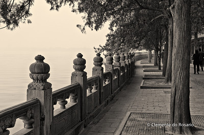 A walkway along Lake Kunming in the Summer Palace complex, Beijing
