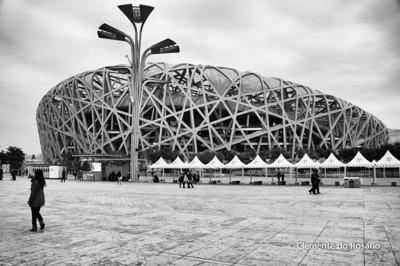 "Beijing National Stadium, known as ""The Bird's Nest"""