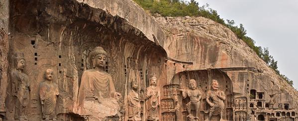 Buddhist Longmen Grottoes near Luoyang