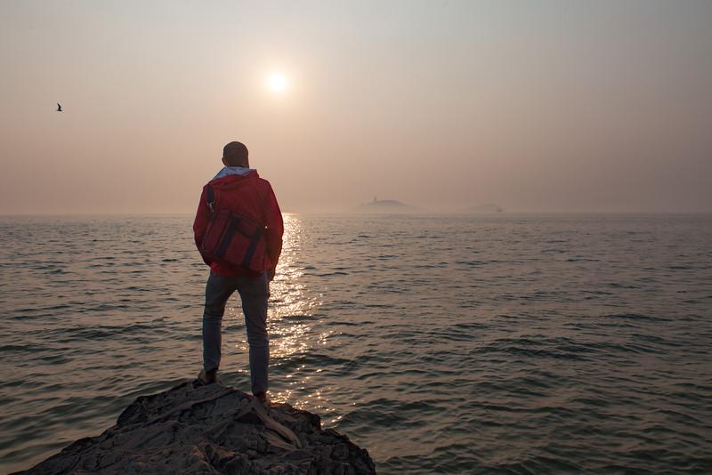 Jason At The Shore - Taihu Lake - Wuxi, China