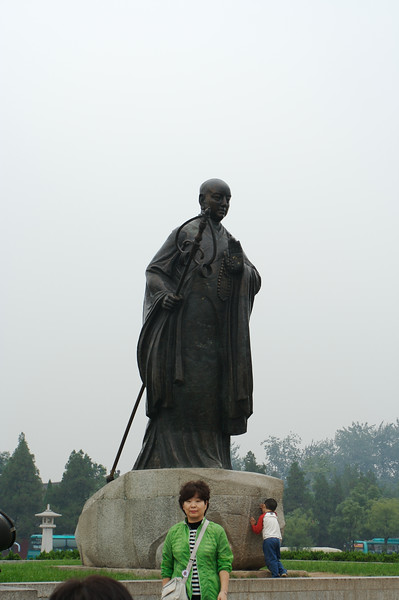 "Statue of buddhist monk Tripitaka, mentioned in the story ""Journey to the West""."