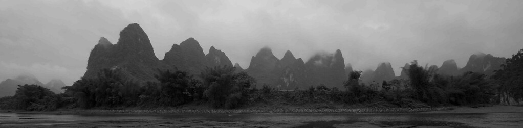 Landscape view of the Guilin River.