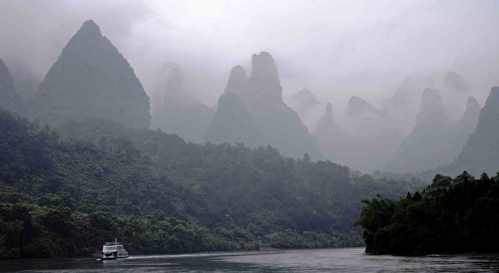 Guilin River early morning; another version.