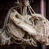Traditional footwear is made of woven fiber.