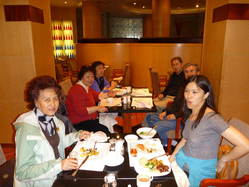 Breakfast buffet at hotel was SO good on the second day with parents' good old friends.