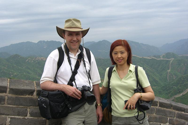 Eva and Brett on The Great Wall.