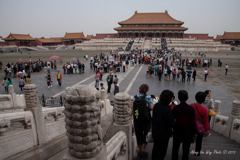China-1317<br /> Looking across the plaza to the Gate of Supreme Harmony in the Forbidden City in Beijing.