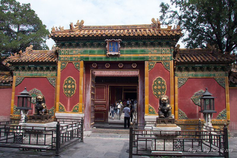 China-1359<br /> Gate in the Forbidden City in Beijing.
