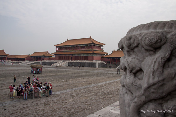 China-1316<br /> Looking across the plaza to the Gate of Supreme Harmony in the Forbidden City in Beijing.