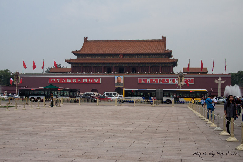 China-1274<br /> Looking at entryway to the Forbidden City from Tiananmen Square in Beijing, China.
