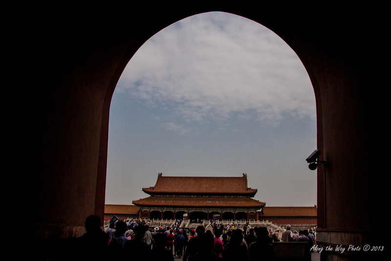 China-1297<br /> Entering the Forbidden City in Beijing, China.