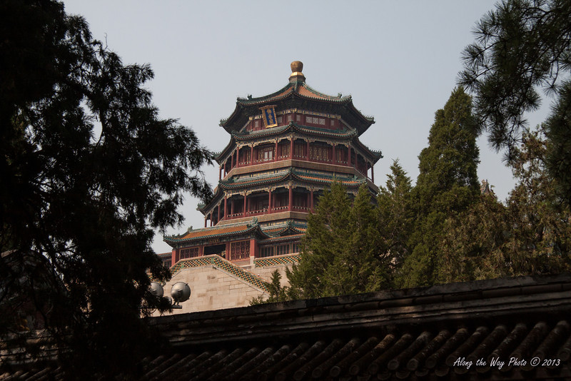 China-1466<br /> View of the Tower of Buddhist Incense in the Summer Palace in Beijing, China.