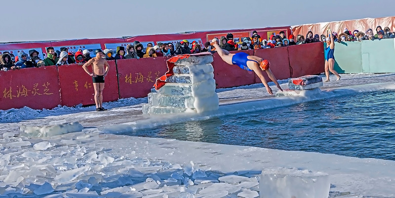 Bathing at -28 ° C in Harbin