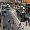 Street scene from elevated walkway