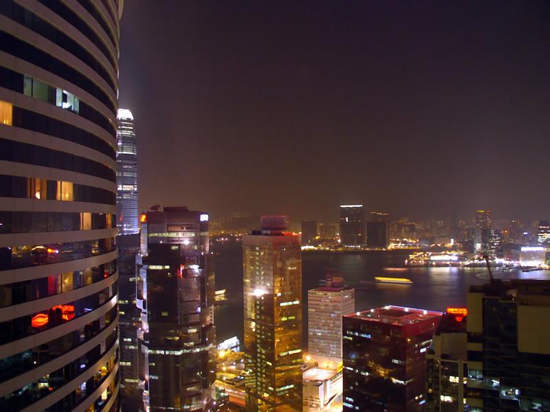 Overlooking Victoria Harbor toward Kowloon