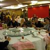 Bob, Manny, Matt, Stanley, Osei, Eddie, and Patrick having dinner in Jiangmen