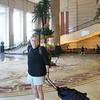 Bob in hotel lobby