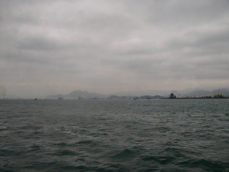 Heading to Lantau Island on the jet boat