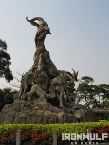 Yuexiu Park 5 Rams Sculpture