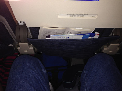 Knee room for 747 Economy seating