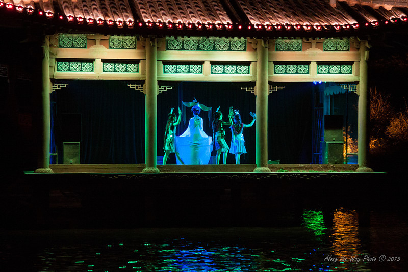 China-2699<br /> The Guilin Opera can only be viewed from the water and are timed for the cruise boats. The night Cruise will take you on the two rivers and four lakes in Guilin.