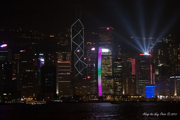 China-4007<br /> Hong Kong has a night show with lights and music. The lights on the buildings are choreographed with music. The program takes place every night with the audience on the Kaloon side of the harbor watching the show.44 skyscrapers and buildings take part in the show, making it the largest light and music show in the world.