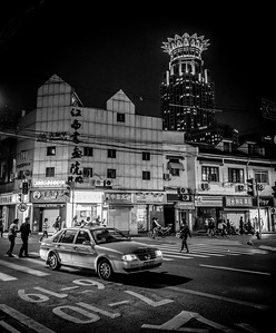 Night time in black n white, Shanghai April 2016