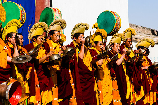 Cymbals, long horn, drums, and hand bells are commonly played during Cham dances.