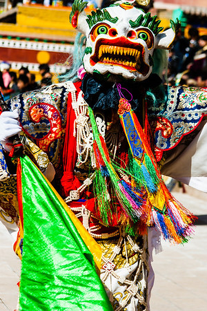Songdong, with the head of a Snow Lion, is an acolyte of Palden Lhamo.