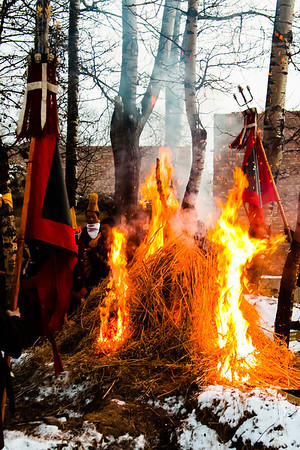 The zor is brought to the pyre to destroy the evil spirits that had been defeated by the Wrathful Deities during the Cham dance.