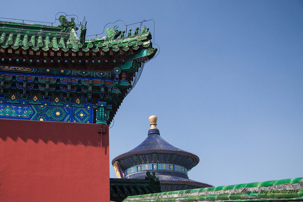 China-0910<br /> The emperors of the Ming and Qing Dynasty held their Heaven Worship ceremonies at the Temple of Heaven in Beijing. The Temple was built in 1420. The park covers 673 acres and was opened to the public in 1988.