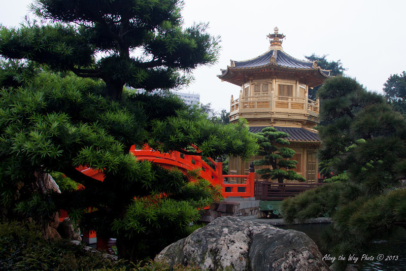 China-4068<br /> Pavilion in the Nan Lian Gardens in the Chi Lin Nunnery Complex in Kowloon, Hong Kong.