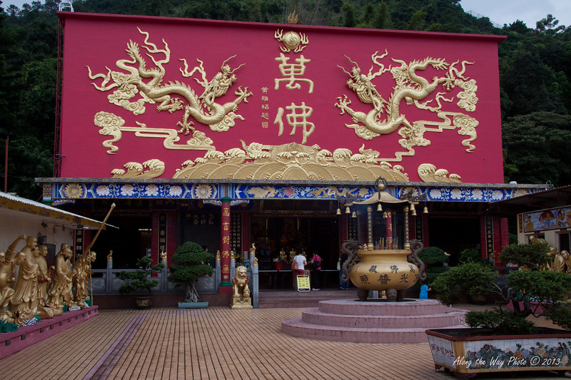 China-4100<br /> Ten Thousand Buddha's Monastery, a Buddhist Temple in Sha Tin, Hong Kong, construction was started in 1949 and took eight years to finish. It took ten years to finish the 12,800 Buddha's. The complex has five temples, 4 pavilions and 1 pagoda.