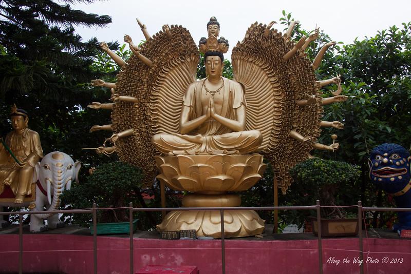 China-4098<br /> Buddha statute at the Ten Thousand Buddha Monastery in Sha Tin, Hong Kong.