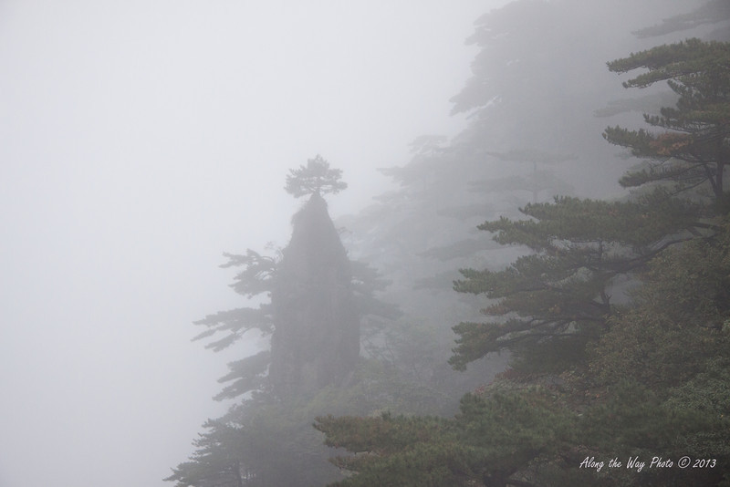 China-3764<br /> Huangshan Mountain range is in Eastern China. Mountain peaks will reach 3250 feet with clouds below the peaks more then 200 days a year. Huangshan is Yellow in mandarin, so the Mountains are commonly referred to as the Yellow Mountains.
