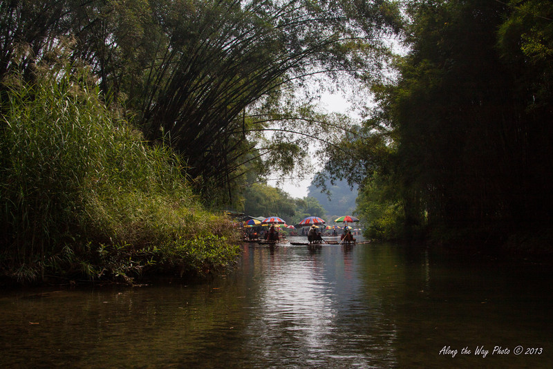 China-2399<br /> Rafting the 22 miles of the Yulong River, a tributary of the Li River.