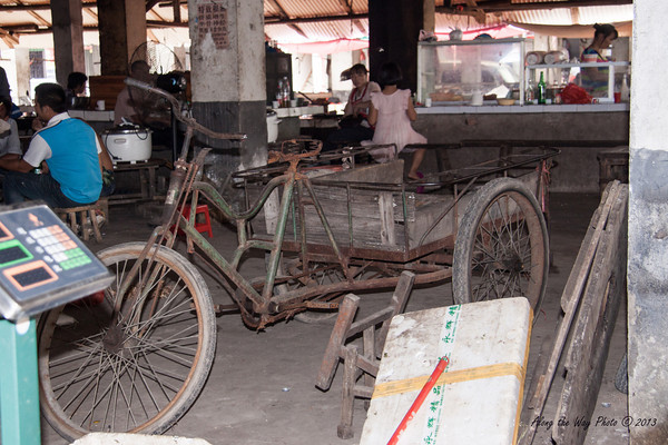 China-2608<br /> Those that could not afford motorized vehicles would use the three wheeled bicycles.